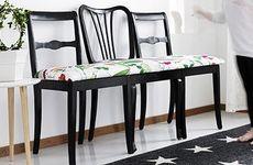 Fixa en bänk av tre stolar
