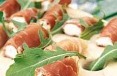 Prosciutto-rullar med färskost