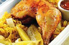 Curryris med grillad kyckling