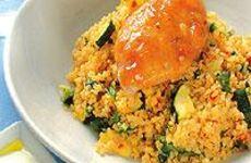 Kycklingfilé i ugnen med bulgur