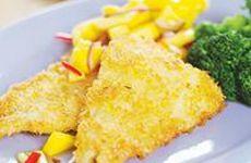 Pankopanerad fisk på sej eller kolja