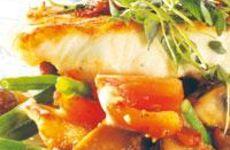 Halstrad havskatt med provensalska grönsaker