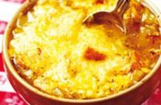 Fransk löksoppa gratinerad i ugn