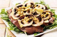 Rostbiff med champinjoner och parmesanost