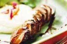 Lammfilé med jordärtskockspure med balsamicosås