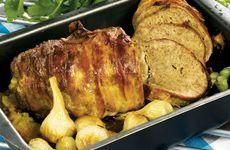Härlig köttfärslimpa med lök