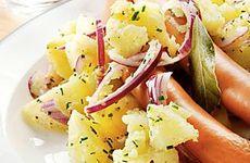 Kokt wienerkorv med potatissallad