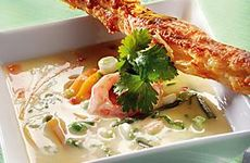 Thaisoppa med räkor