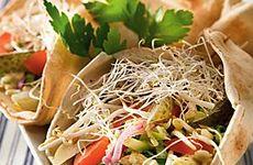 Vegetarisk hummuswrap