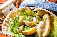 Wrap med potatis och sill