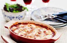 Auberginegratäng med mozzarella