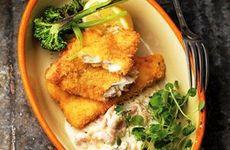 Panerad torsk med skagensås