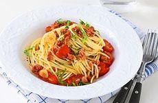Spagetti med salsiccia