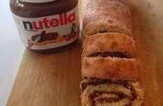Rulltårta med nutellafyllning