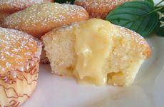 Citronmuffins med lemon curd fyllning