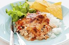Kycklinggratäng med nachochips