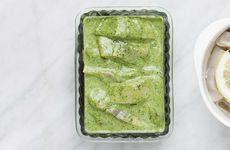 Grön örtsill med vitlök