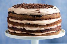 Chokladtårta med drottningsylt