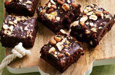Brownie med hasselnötter