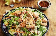 Asiatisk sallad med sesamlax