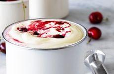 Körsbärsglass med vanilj
