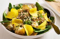 Potatissallad med god senapsdressing