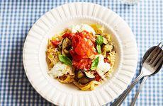 Färsk tomatsås med pasta