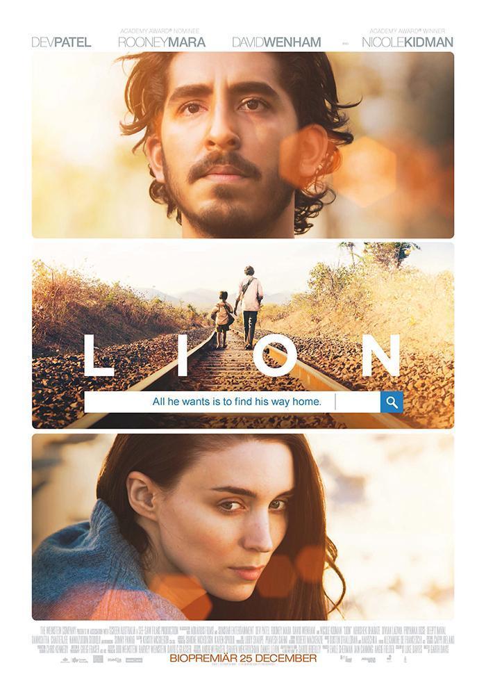 Vinn biobiljetter till storfilmen Lion - ge bort i julklapp!