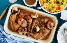 Kycklingklubbor med saffransris
