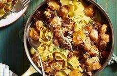 Pumpasås med pasta
